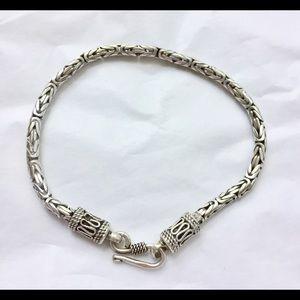 Viking Weave Sterling Silver Bracelet 925